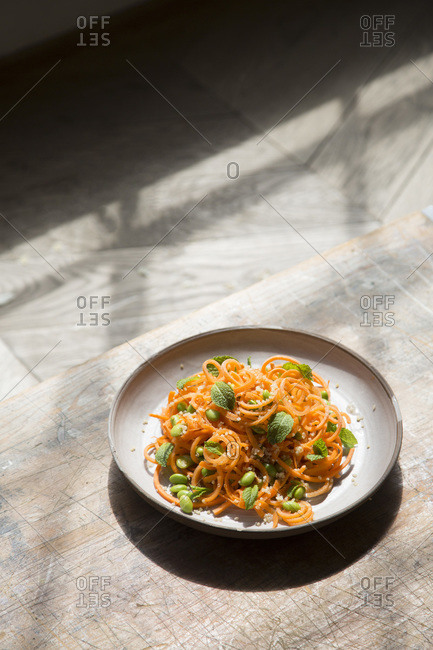 Carrot Salad with Mint served fresh