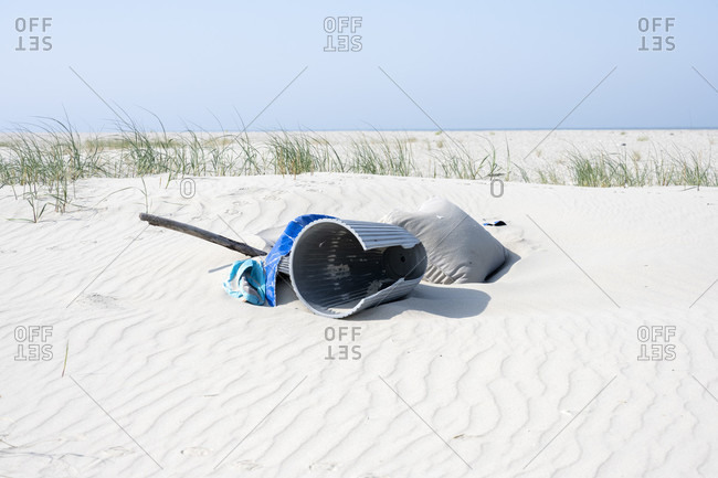 Germany, Lower Saxony, East Frisia, Juist, washed up beach goods.