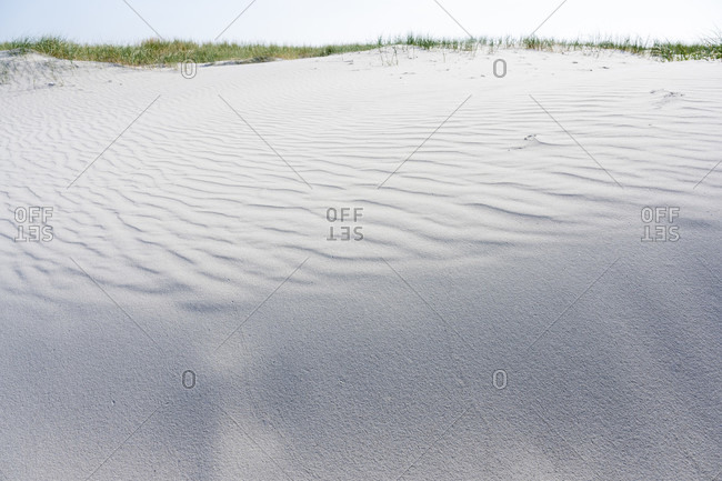 Germany, Lower Saxony, East Frisia, Juist, sand structure on the beach.