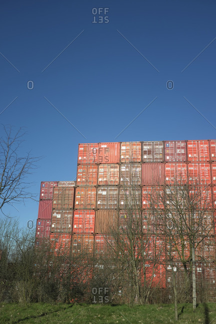 February 5, 2020: Germany, Hamburg, impressions, containers