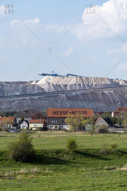 April 12, 2020: Germany, Saxony-Anhalt, view of Loitsche.