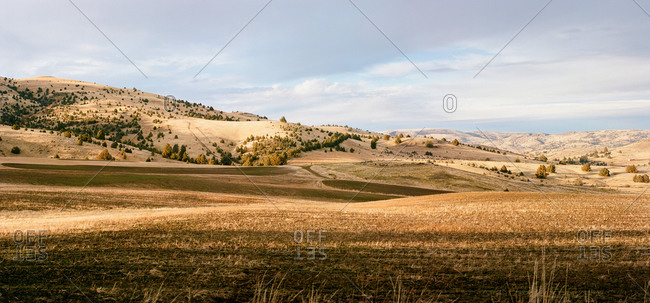 Eastern Oregon high desert farmland panoramic