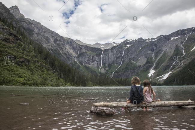Two Sisters Visit Alpine Lake