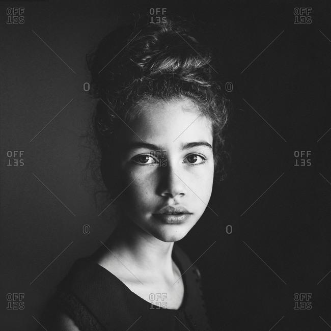Regal portrait of a girl