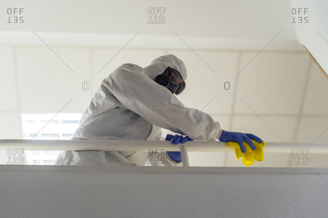 Military disinfecting the hospital to prevent the spread of covid19