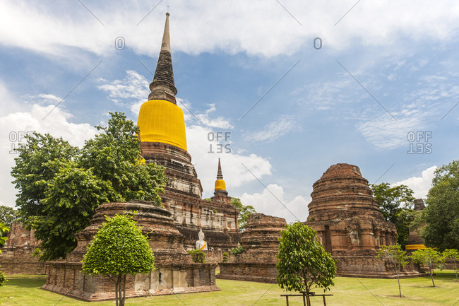 Pagoda at Wat Yai Chaimongkol temple in Ayutthaya