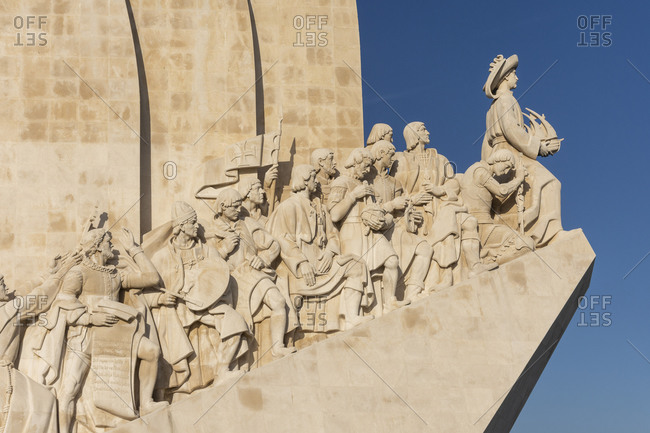 Lisbon, Lisbon, Portugal - August 10, 2020: Beautiful view to historic Monument to the Discoveries in Belem