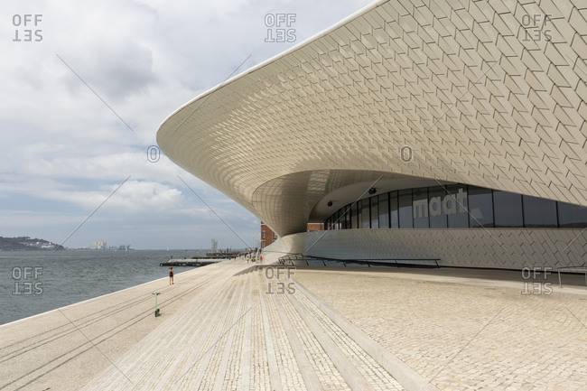 Lisbon, Lisbon, Portugal - August 11, 2020: Beautiful view to modern architecture museum city building