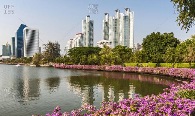 Luxury condominium at Benjakitti park in Bangkok