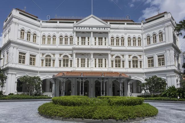 February 22, 2020: Raffles Hotel, Singapore, Southeast Asia, Asia