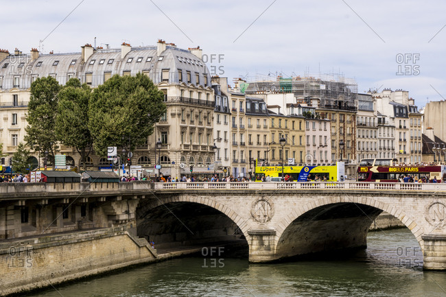 July 16, 2016: The Pont au Change bridge over Seine River, Paris, France, Europe
