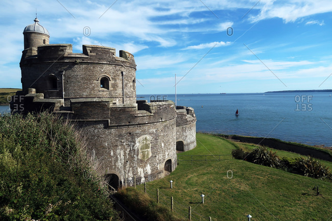 St. Mawes castle, St. Mawes, Cornwall, England, United Kingdom, Europe