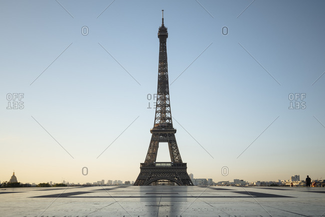 August 4, 2020: Eiffel Tower, Palais de Chaillot, Paris, Ile-de-France, France, Europe