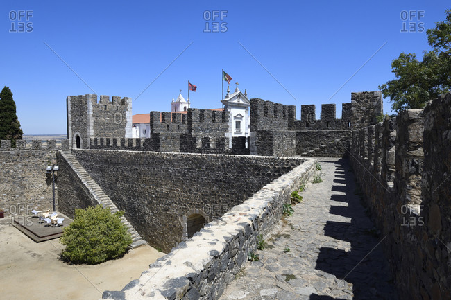 Courtyard, Beja Castle, Beja, Alentejo, Portugal, Europe