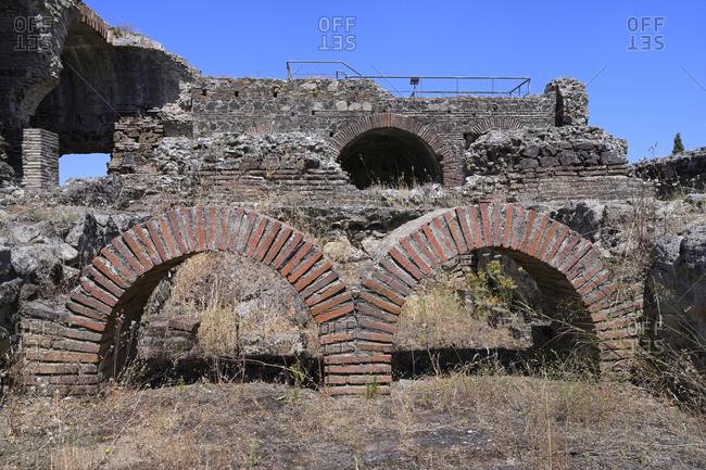 Bath, Sao Cucufate Roman ruins, Vila de Frades, Vidigueira, Alentejo, Portugal, Europe