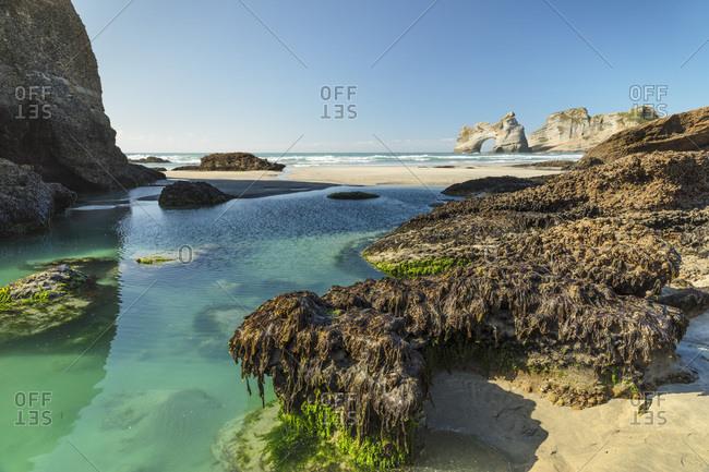 Wharariki Beach, Golden Bay, Tasman, South Island, New Zealand, Pacific