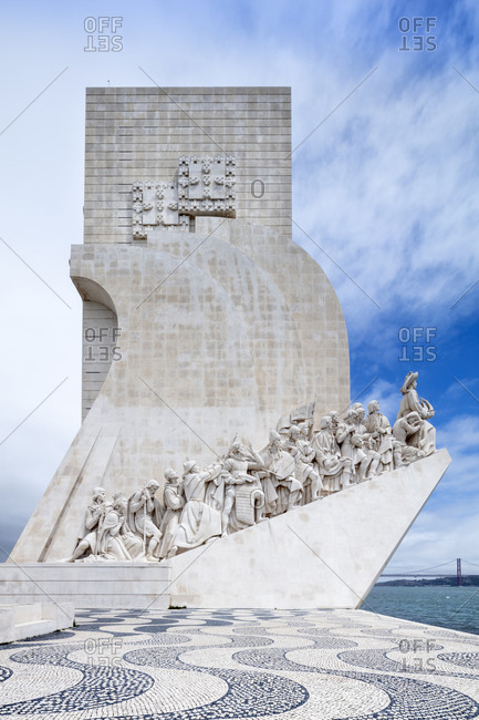 August 20, 2020: The Discoveries Monument (Padrao dos Descobrimentos) on the Tagus River in Belem, Lisbon, Portugal, Europe