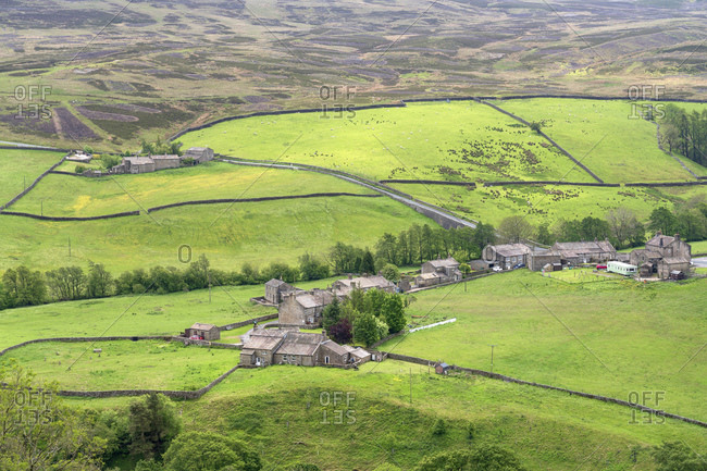 Arkle Town hamlet near Langthwaite in Arkengarthdale, The Yorkshire Dales National Park, Yorkshire, England, United Kingdom, Europe