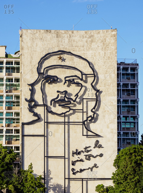 January 23, 2020: Che Guevara Memorial at Plaza de la Revolution (Revolution Square), Havana, La Habana Province, Cuba, West Indies, Central America