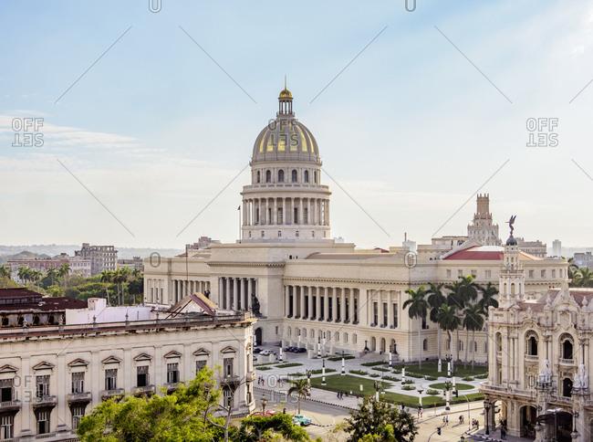 El Capitolio, elevated view, Havana, La Habana Province, Cuba, West Indies, Central America