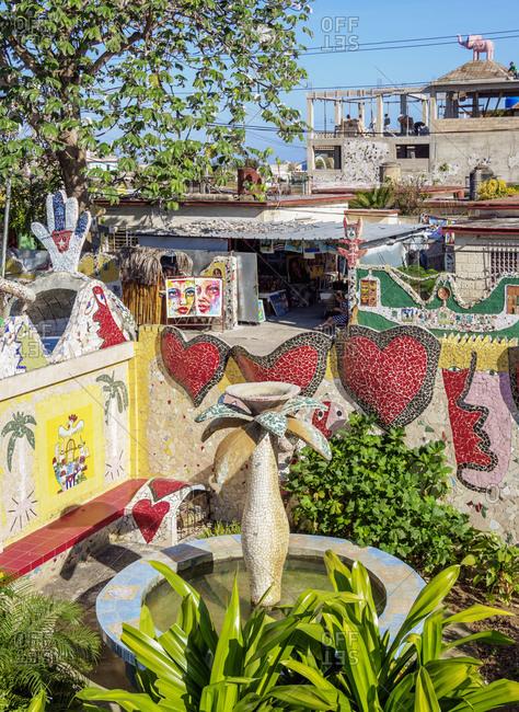 March 17, 2020: House of Fuster, detailed view, Fusterlandia, Jaimanitas Neighborhood, Playa District, Havana, La Habana Province, Cuba, West Indies, Central America