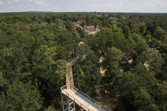 July 19, 2020: Part of the Baumkronenpfad in Beelitz-Heilstatten, Brandenburg, Germany