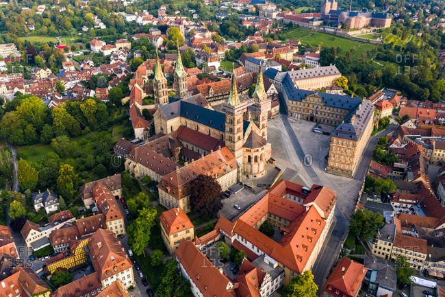 Bamberg cathedral with cityscape at Bamberg- Bavaria- Germany