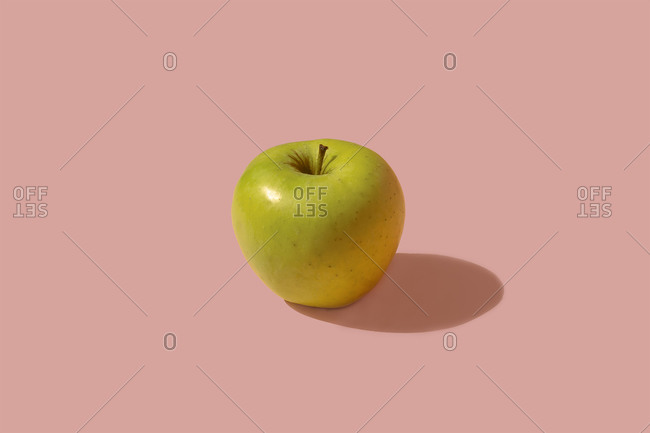 Studio shot of ripe green apple