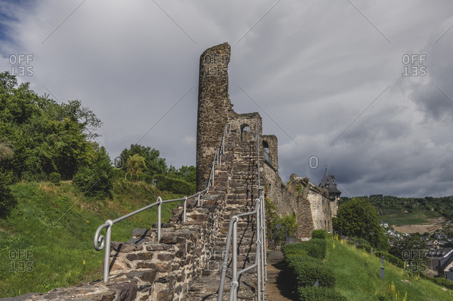 Germany- North Rhine-Westphalia- Oberwesel- Old medieval fortifications