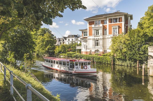 Germany- Hamburg- Passenger ship on river Alster
