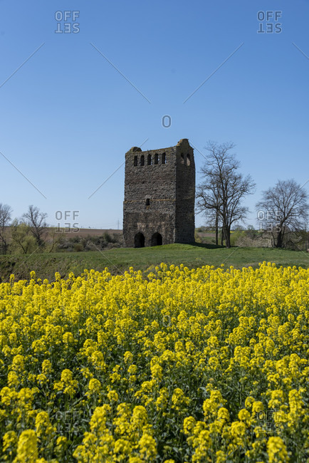 Germany, Saxony-Anhalt, hundisburg, ruin nordhusen