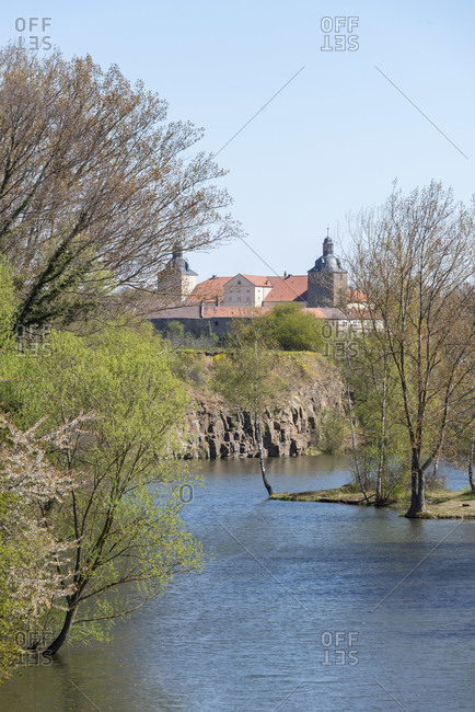 Germany, Saxony-Anhalt, hundisburg, view of the hundisburg baroque castle.