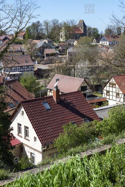 Germany, Saxony-Anhalt, hundisburg, view of the village of hundisburg.