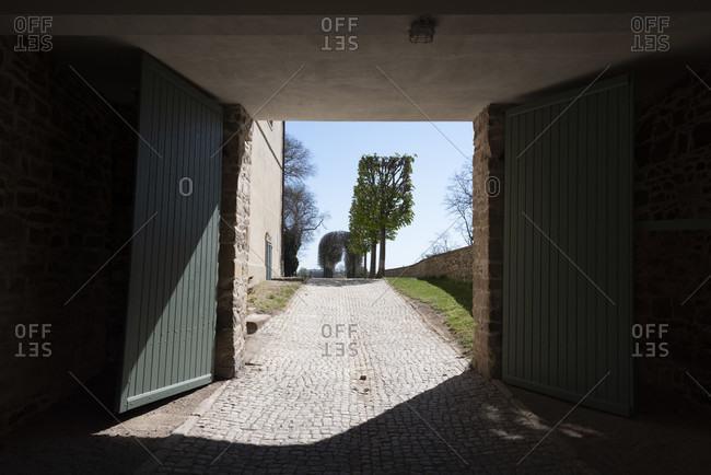Germany, Saxony-Anhalt, torweg at hundisburg castle.