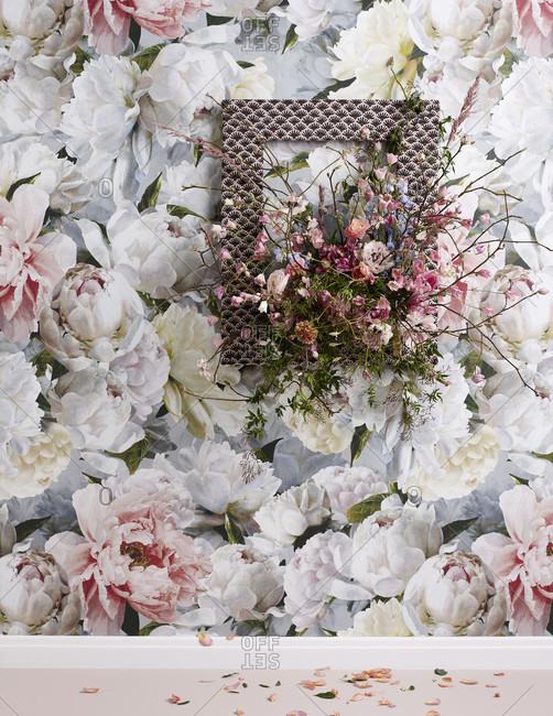Flowers fabrics and wallpaper, decoration 2020