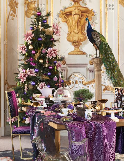 Opulent and elegant christmas, christmas decoration