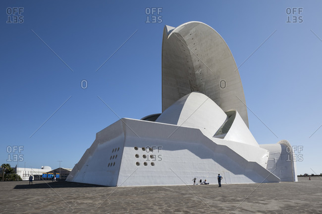 January 19, 2020: auditorium by architect Santiago Calatrava, congress and concert hall, Santa Cruz de tenerife, tenerife, canary islands, Spain