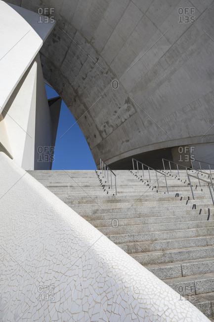 January 19, 2020: auditorium by architect Santiago Calatrava, congress and concert hall, Santa Cruz de tenerife, tenerife, canary islands, Spain