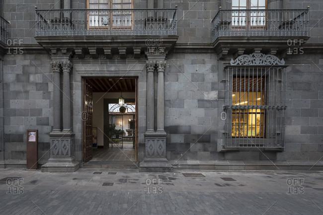 January 20, 2020: palacio Salazar in the old town of san Cristóbal de la laguna, tenerife, canary islands, Spain
