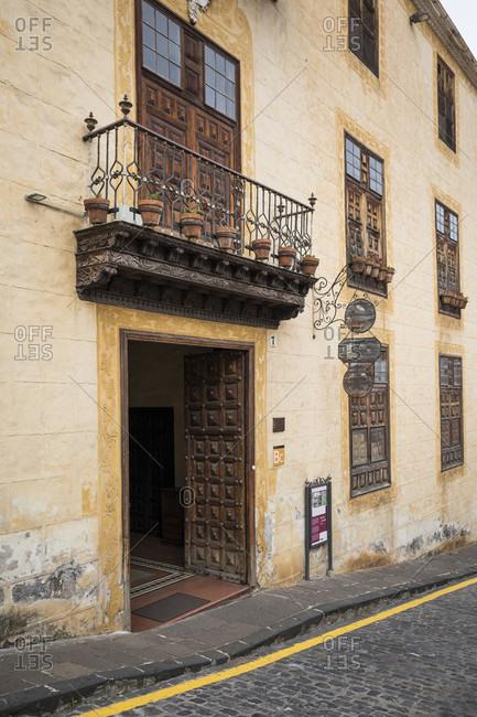 January 21, 2020: former city villa casa lercaro, la orotava, tenerife, canary islands, Spain