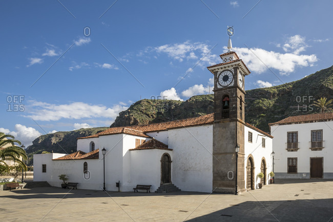Church of Iglesias de san Juan in the square of plaza Rosario oramas, san Juan de la rambla, tenerife, canary islands, Spain