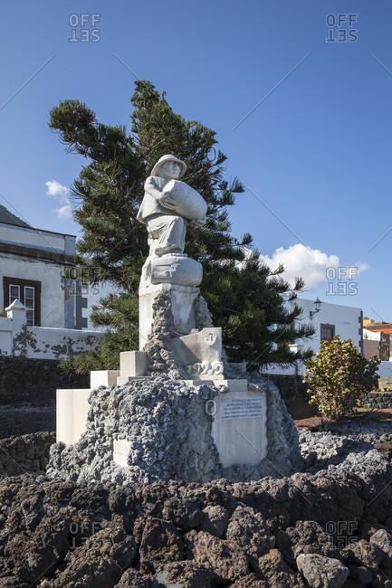 January 24, 2020: monument to free wine trade, garachico, tenerife, canary islands, Spain