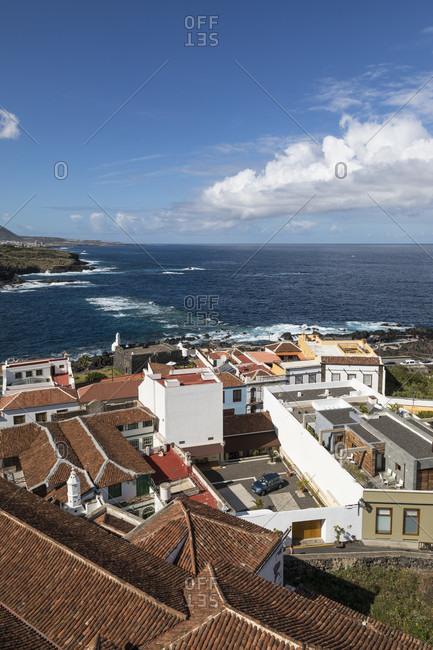 View over garachico to the atlantic ocean, tenerife, canary islands, Spain