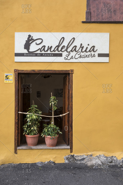 January 24, 2020: candelaria la cocinera restaurant, garachico, tenerife, canary islands, Spain
