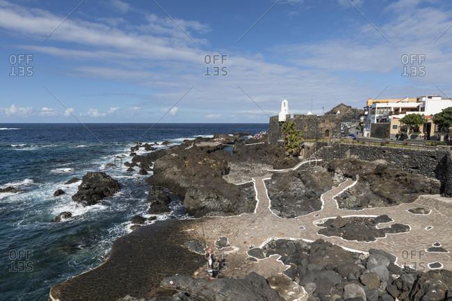 Marine swimming pools piscinas naturales de caleton, garachico, tenerife, canary islands, Spain