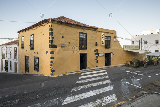 January 24, 2020: carmen restaurant, icod de los vinos, tenerife, canary islands, Spain
