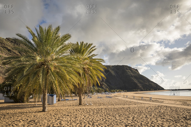 Public beach playa de las teresitas near san Andres, tenerife, canary islands, Spain