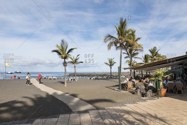 January 27, 2020: playa jardin beach, Puerto de la Cruz, tenerife, canary islands, Spain