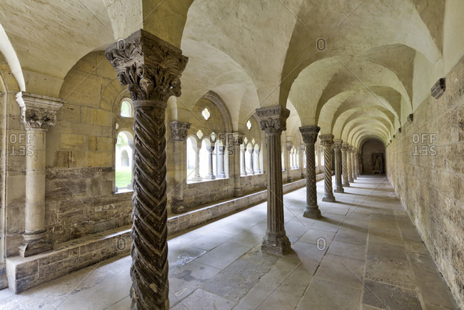 Cloister, imperial cathedral, collegiate church, interior design, koenigslutter am elm, lower saxony, Germany, Europe