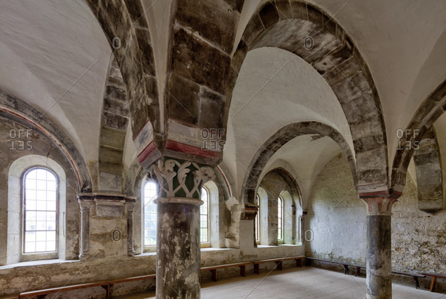 Mariental abbey, interior design, exhibition rooms, mariental, lower saxony, Germany, Europe